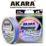 Шнур AKARA Power Action X-4, Multicolor, 275м, 0.40мм